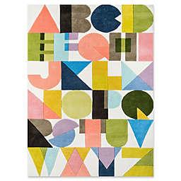 Novogratz Lulu ABC Shapes 7'6 x 9'6 Multicolor Area Rug