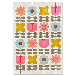 Novogratz Lulu Flower Child Area Rug in Ivory
