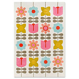 Novogratz Lulu Flower Child 5' x 7'6 Area Rug in Ivory