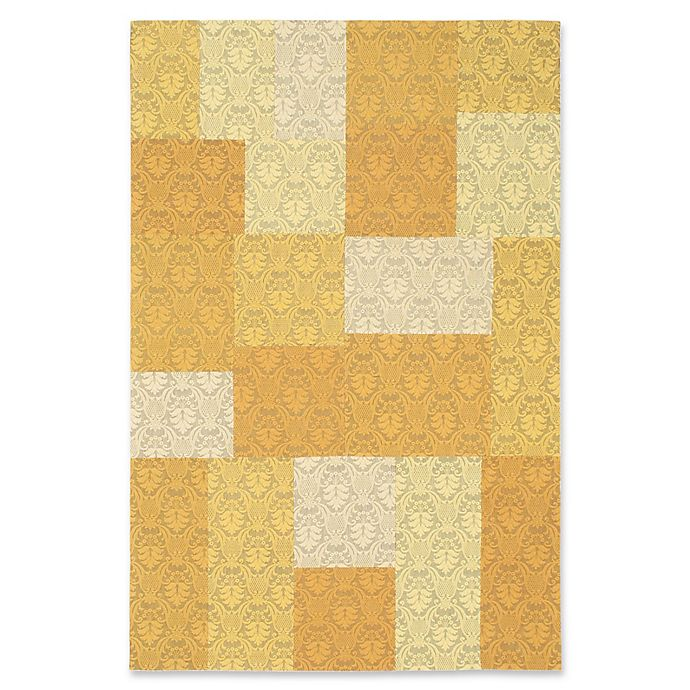 Alternate image 1 for ECARPETGALLERY Collage 5' X 8' Woven Area Rug in Yellow