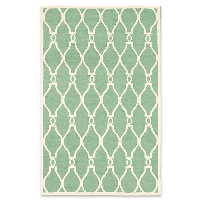 Alternate image 1 for ECARPETGALLERY One of a Kind Kasbah 5' x 8' Hand-Tufted Area Rug in Cream/Light Green
