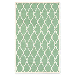ECARPETGALLERY Kasbah 5' x 8' Hand Tufted Area Rug in Cream/Light Green