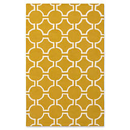 ECARPETGALLERY Kasbah 5' x 8' Hand Tufted Area Rug in Cream/Gold