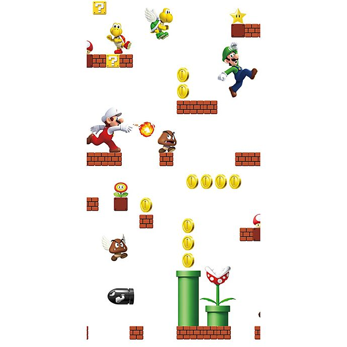 Roommates Nintendo Super Mario Bros Peel Stick Wallpaper Bed Bath Beyond