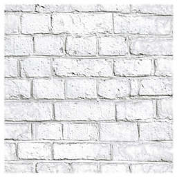 RoomMates® Brick Peel & Stick Wallpaper in White