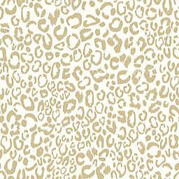 RoomMates Leopard Peel & Stick Wallpaper in Gold