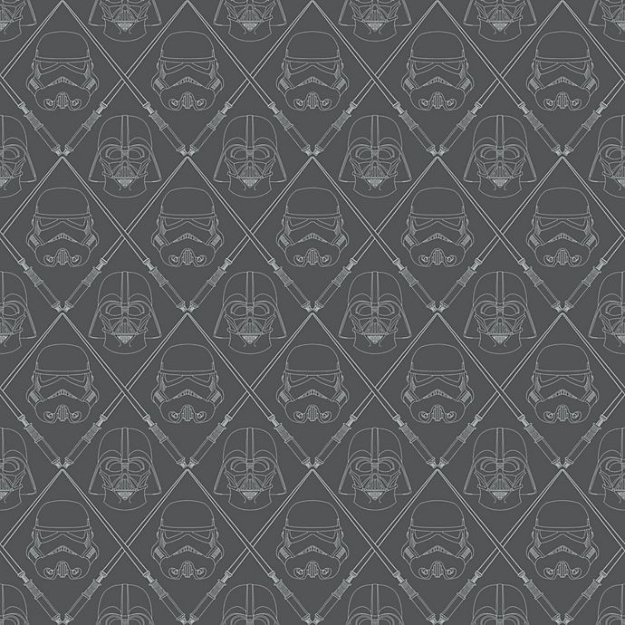 Alternate image 1 for Roommates® Star Wars™ Darkside Peel & Stick Wallpaper in Black