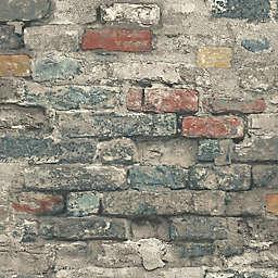 RoomMates® Peel & Stick Brick Alley Wallpaper in Teal