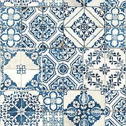RoomMates® Mediterranean Tile Peel & Stick Wallpaper in Blue