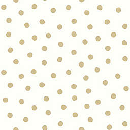 RoomMates® Small Dotted Peel & Stick Wallpaper in Gold