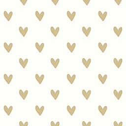 RoomMates® Heart Spots Peel & Stick Wallpaper in Gold