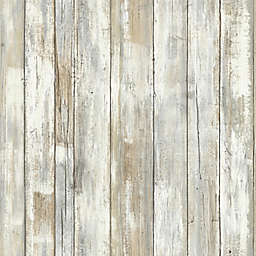RoomMates® Peel & Stick Distressed Wood Wallpaper in Tan
