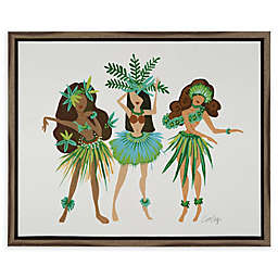 Cat Coquillette Luau Ladies 16-Inch x 20-Inch Framed Canvas Wall Art