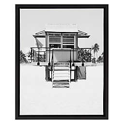 Golie Lifeguard Tower Framed Canvas Wall Art