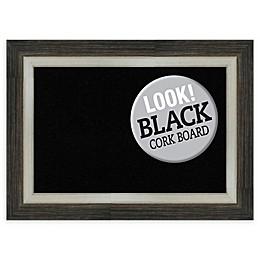 Amanti Art Black Framed Cork Board in Metallic
