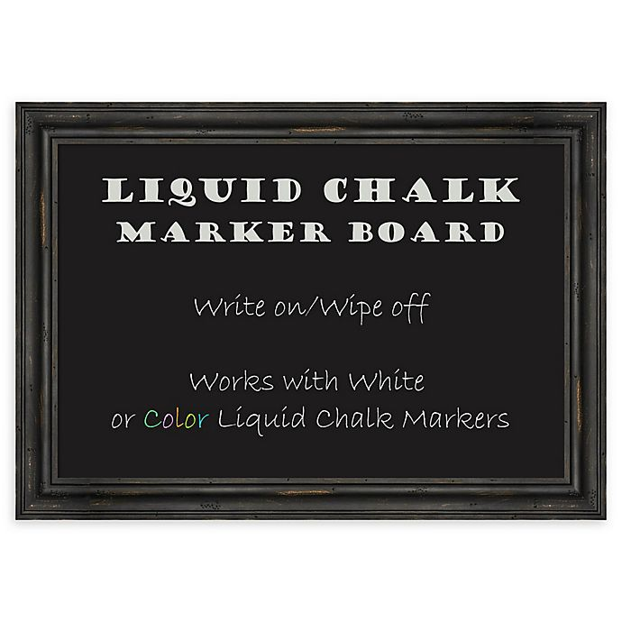 Alternate image 1 for Amanti Art® Liquid Chalk 27-Inch x 19-Inch Marker Board with Rustic Pine Frame