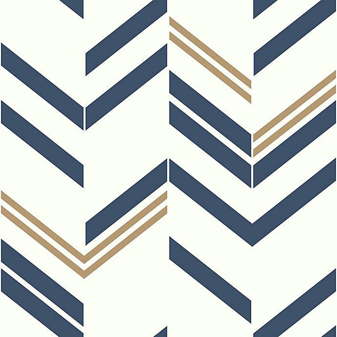 Alternate image 1 for RoomMates® Chevron Stripe Peel and Stick Wallpaper