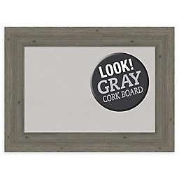 Amanti Art Framed Cork Board in Fencepost Grey