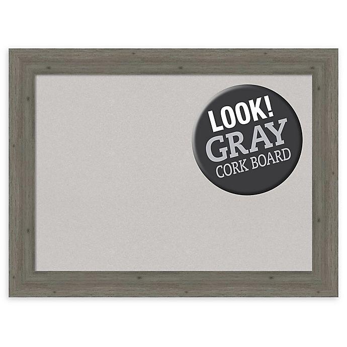 Alternate image 1 for Amanti Art 33-Inch x 25-Inch Framed Cork Board in Fencepost Grey