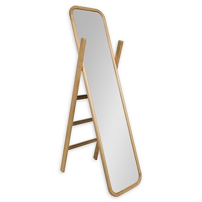 Alternate image 1 for Kate and Laurel Loki Ladder 16-Inch x 58-Inch Floor Mirror