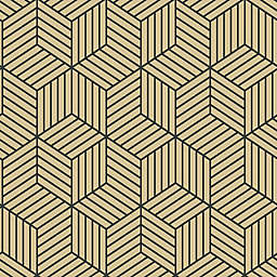 RoomMates® Striped Hexagon Peel and Stick Wallpaper in Gold/Black