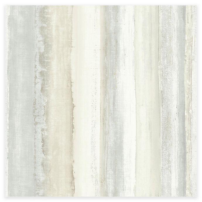 Alternate image 1 for RoomMates® Watercolor Stripe Peel & Stick Wallpaper