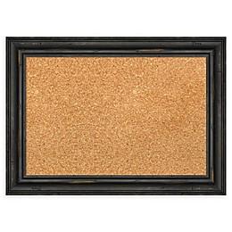 Amanti Art Rustic Pine Framed Cork Board in Black