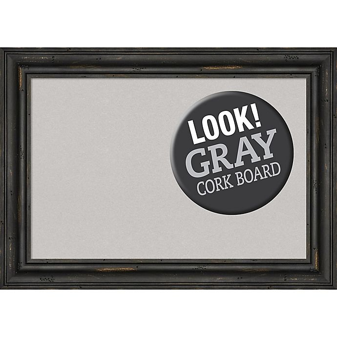 Alternate image 1 for Amanti Art® Framed Grey Cork Board in Rustic Pine