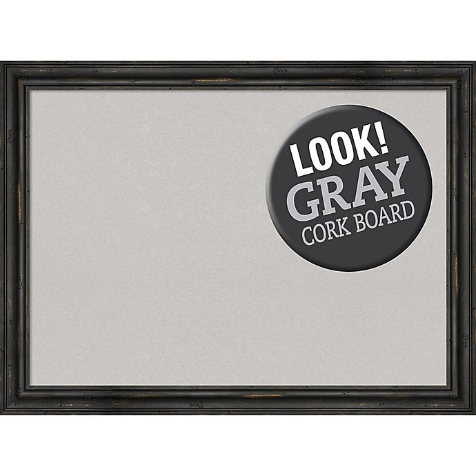 Alternate image 1 for Amanti Art® Large Framed Grey Cork Board in Rustic Pine