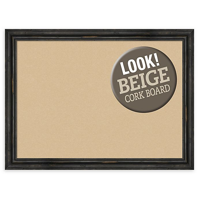 Alternate image 1 for Amanti Art® Large Framed Beige Cork Board in Rustic Pine