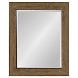 Kate and Laurel™ Boardwalk 28.5-Inch x 34.5-Inch Wall Mirror in Brown