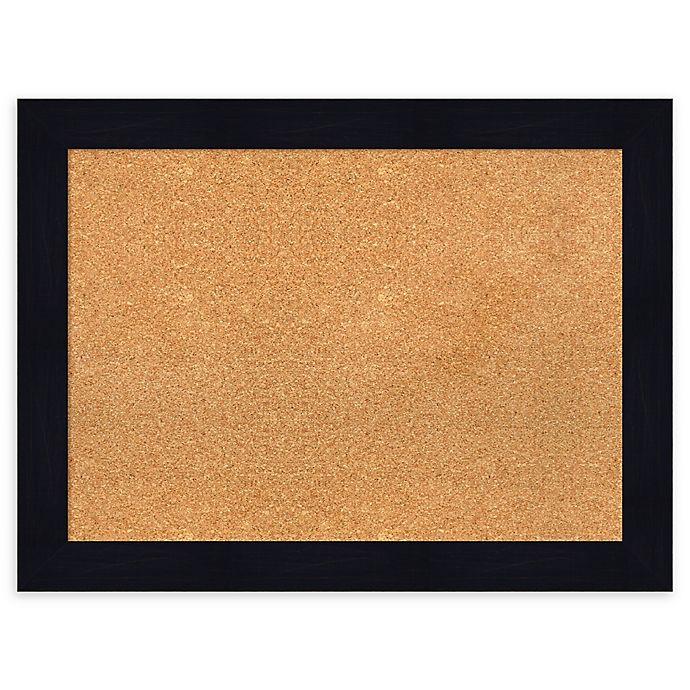 Alternate image 1 for Amanti Art® Large Framed Cork Board in Shiplap Navy