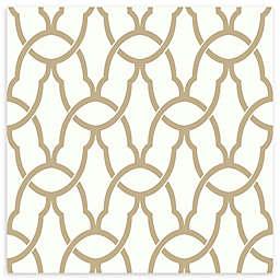 Roommates® Trellis Vinyl Peel & Stick Wallpaper in Gold