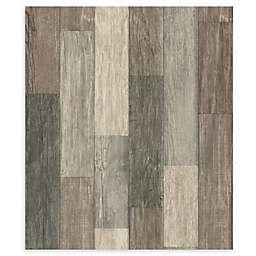 RoomMates® Weathered Wooden Planks Peel & Stick Wallpaper in Brown