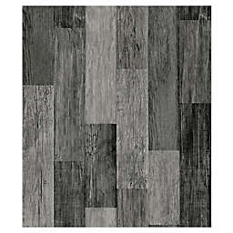 RoomMates® Weathered Wooden Planks Peel & Stick Wallpaper in Black