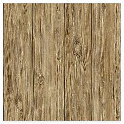 RoomMates® Mushroom Wood Peel & Stick Wallpaper in Brown