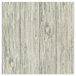 RoomMates® Mushroom Wood Peel & Stick Wallpaper in Grey