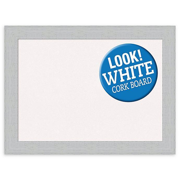 Alternate image 1 for Amanti Art® Large Framed White Cork Board in Shiplap White