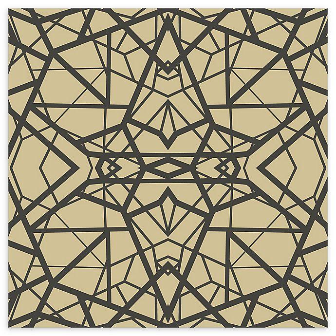 Alternate image 1 for RoomMates® Shatter Geometric Peel and Stick Wallpaper in Gold/Black
