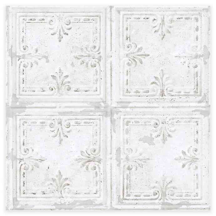 Roommates Tin Tile Peel Stick Wallpaper Bed Bath Beyond