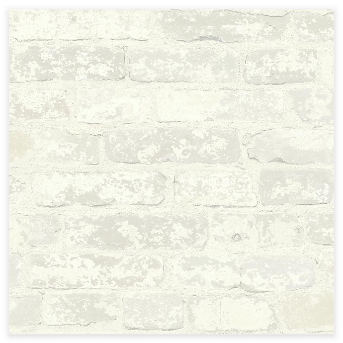 Alternate image 1 for RoomMates® Stuccoed Brick Peel & Stick Wallpaper