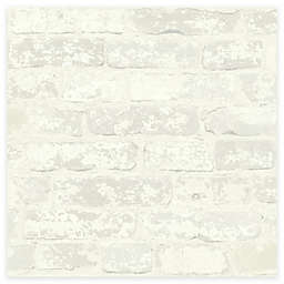 RoomMates® Stuccoed Brick Peel & Stick Wallpaper in White