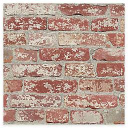 RoomMates® Stuccoed Brick Peel & Stick Wallpaper in Red