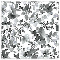Roommates® Watercolor Floral Vinyl Peel & Stick Wallpaper in Black