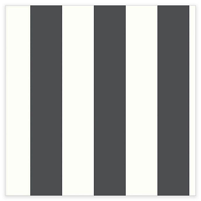 Alternate image 1 for RoomMates® Awning Stripe Peel & Stick Wallpaper