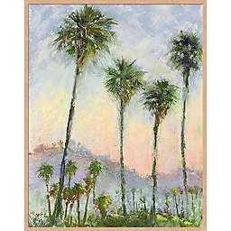 By the Sea Palms 23-Inch x 29-Inch Framed Canvas in Green