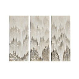 Madison Park™ 15-Inch x 1.5-Inch Wrapped Canvas in Grey Set of 3