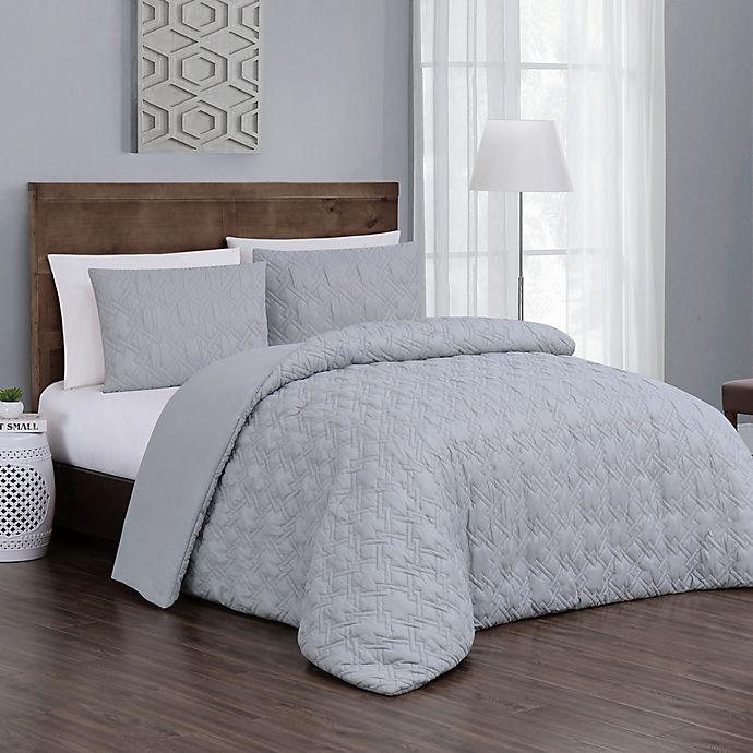 Alternate image 1 for Jess 3-Piece Reversible Queen Comforter Set in Grey