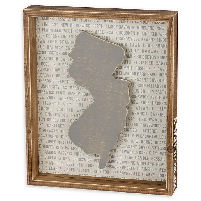 Alternate image 1 for Primitives by Kathy® 10-Inch x 12-Inch New Jersey Wood Wall Art