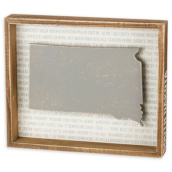 Alternate image 1 for Primitives by Kathy® 12-Inch x 10-Inch South Dakota Wood Wall Art